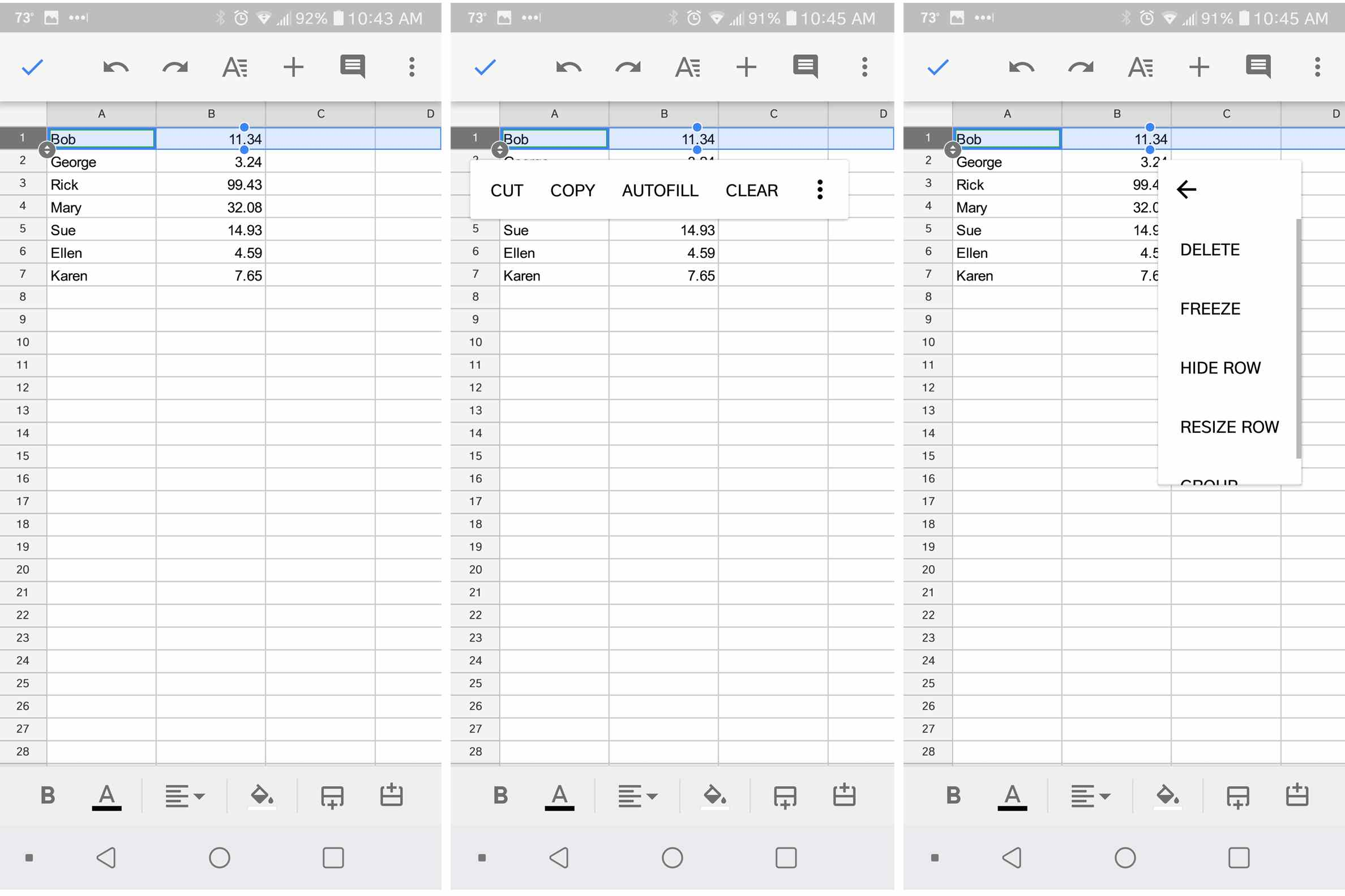 How to Freeze and Unfreeze Rows or Columns in Google Sheets
