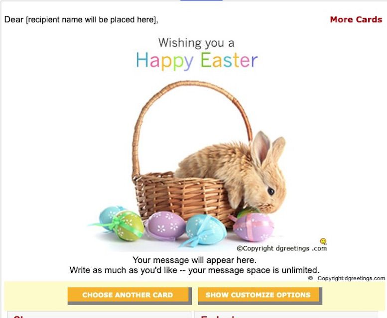 DGreetings free Easter E-Cards