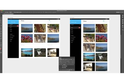 Screenshot of Artboards feature of Photoshop