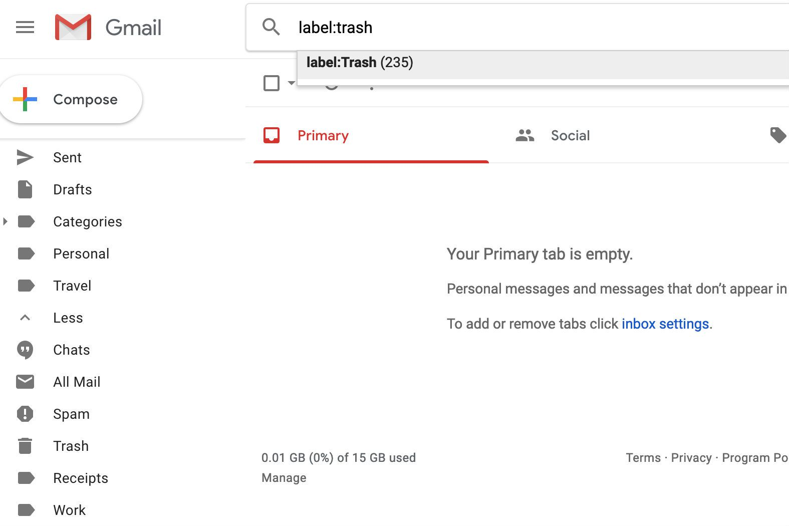 How to Empty Spam and Trash Fast in Gmail