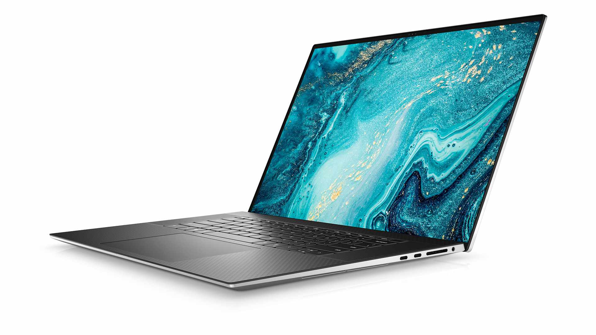 The 2021 Dell XPS 17 when viewed from an angle