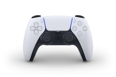 The PlayStation 5 DualSense controller in white
