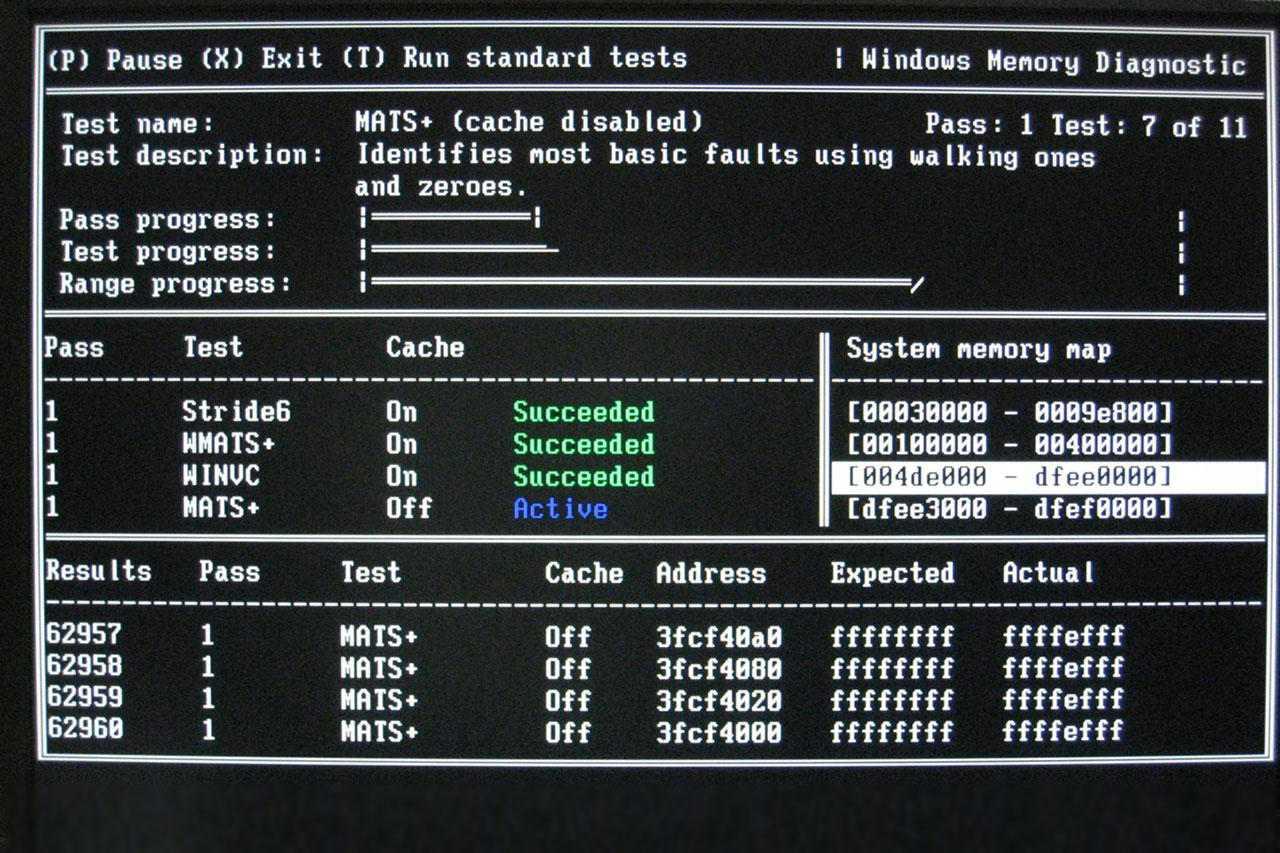 MATS+ test on Windows