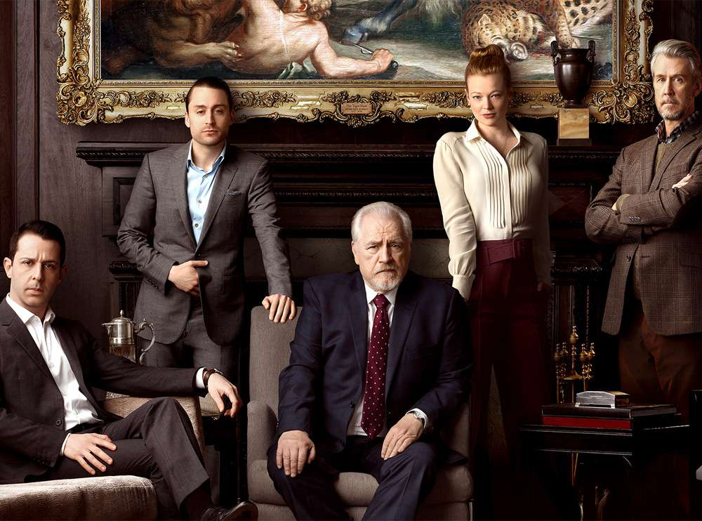 The cast of Succession (2018)