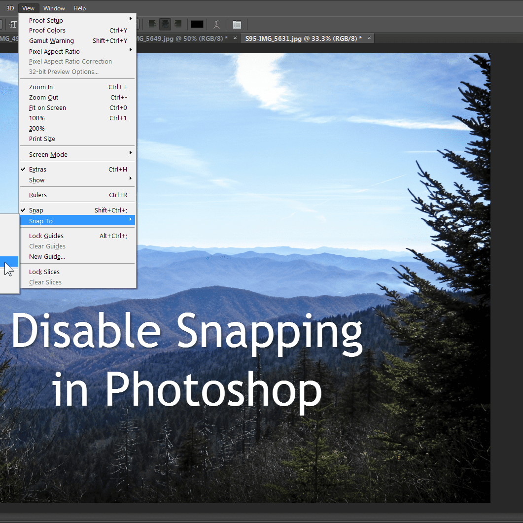 How To Keep Photoshop From Snapping To A Document Edge
