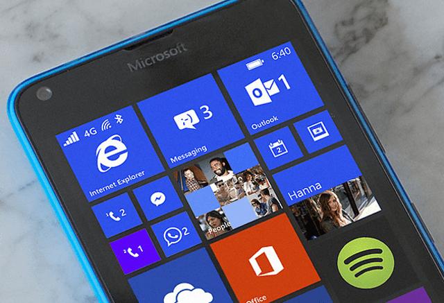 The Microsoft Lumia 640 Running Windows 10
