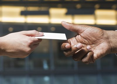 Business card software for windows close up of hands passing business card reheart Image collections