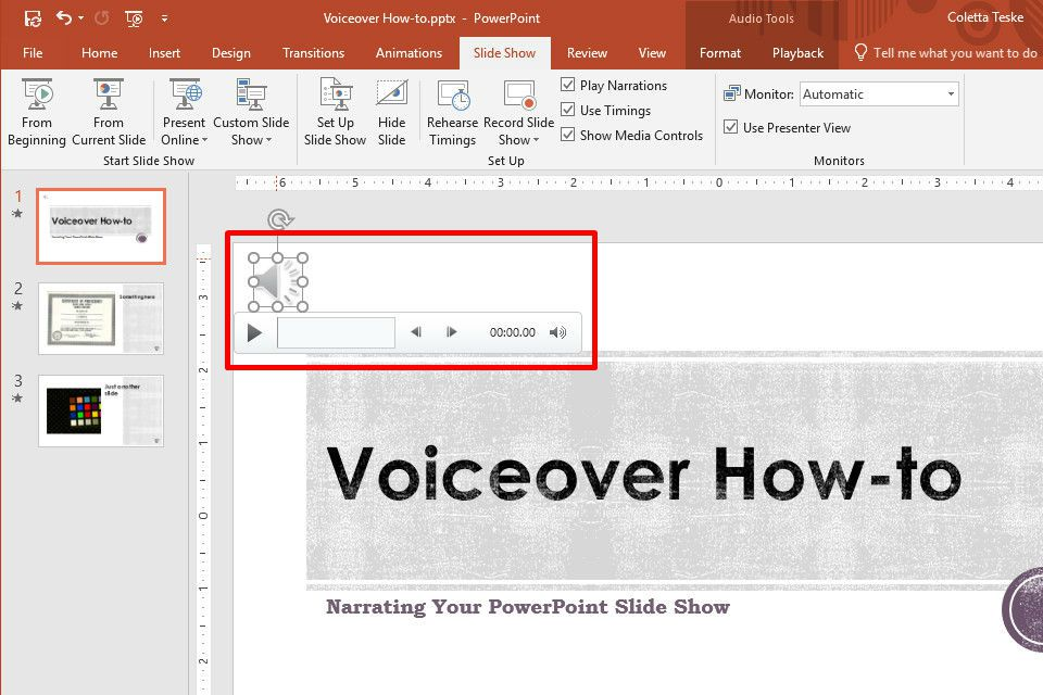 How to Do a Voiceover on PowerPoint