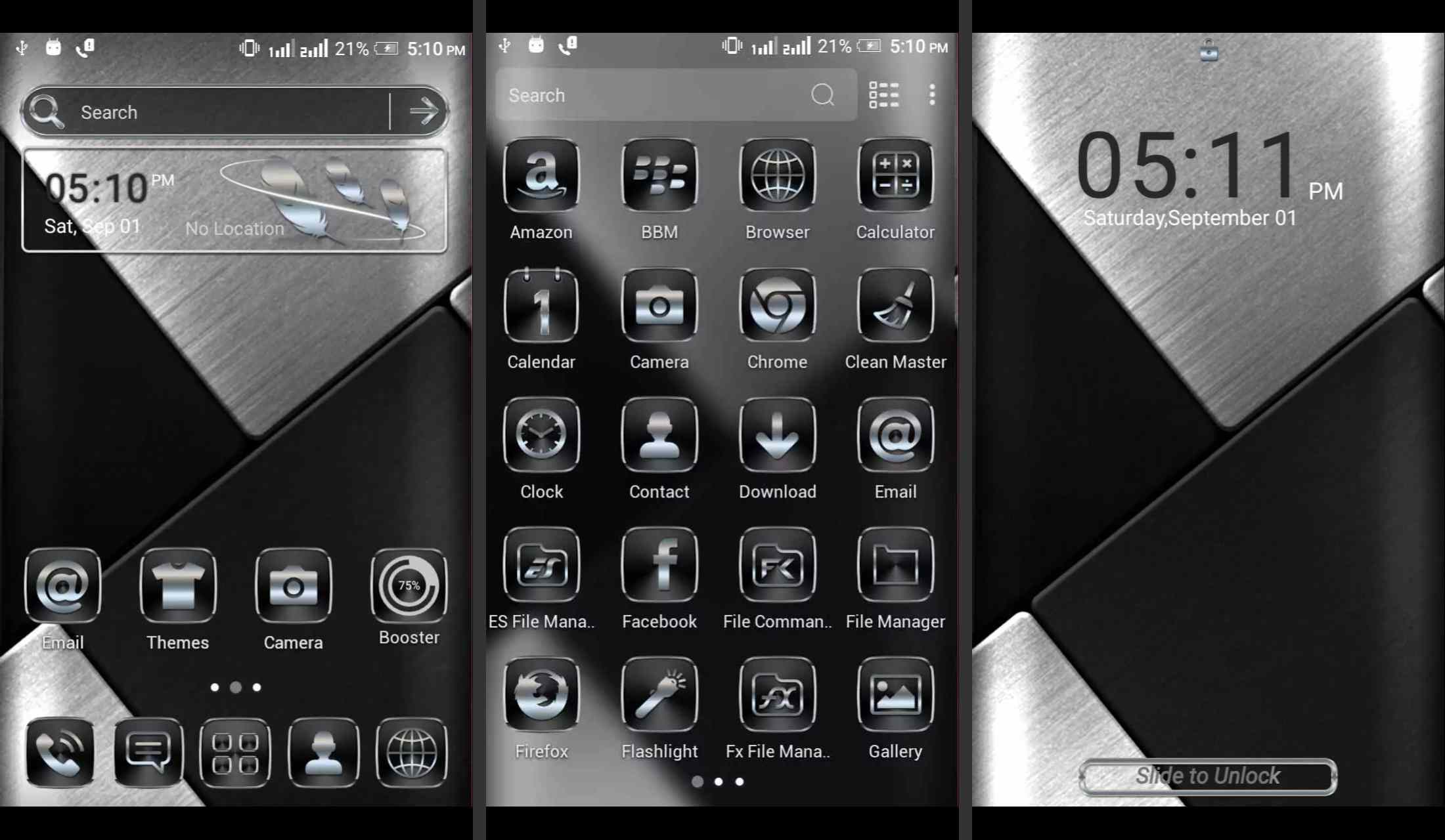 Black Silver Android theme for Android