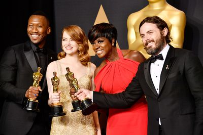 Mahershala Ali, Emma Stone, Viola Davis and Casey Affleck at the Oscars in 2017