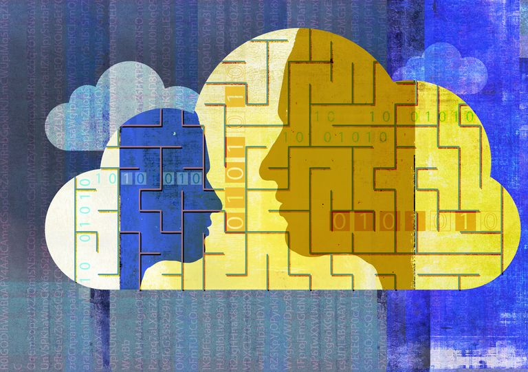 People communicating encrypted data using cloud computing