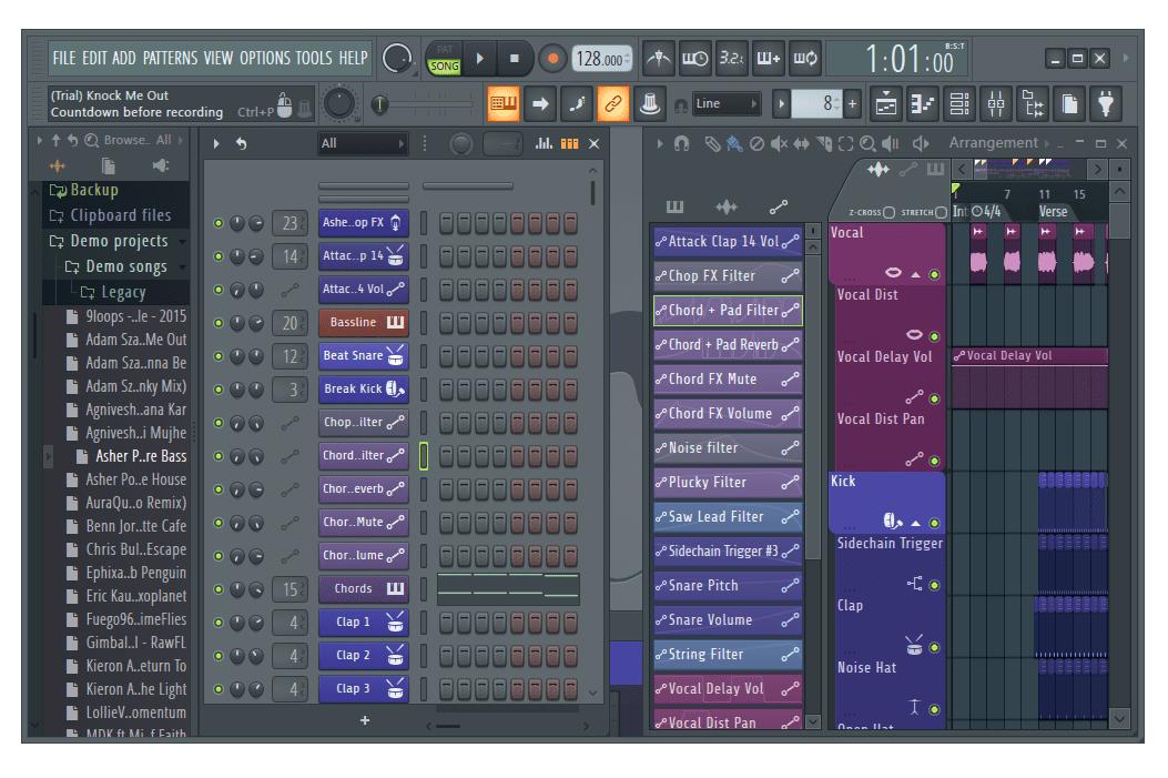 FL Studio screenshot in Windows 8