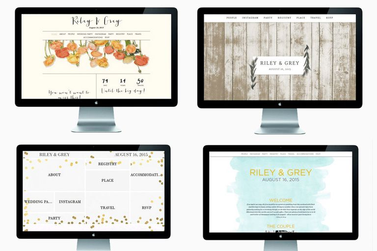 Riley & Grey Wedding Website templates