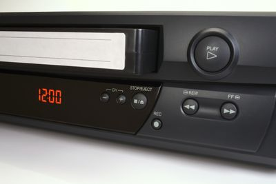 VHS video cassette tape and VCR