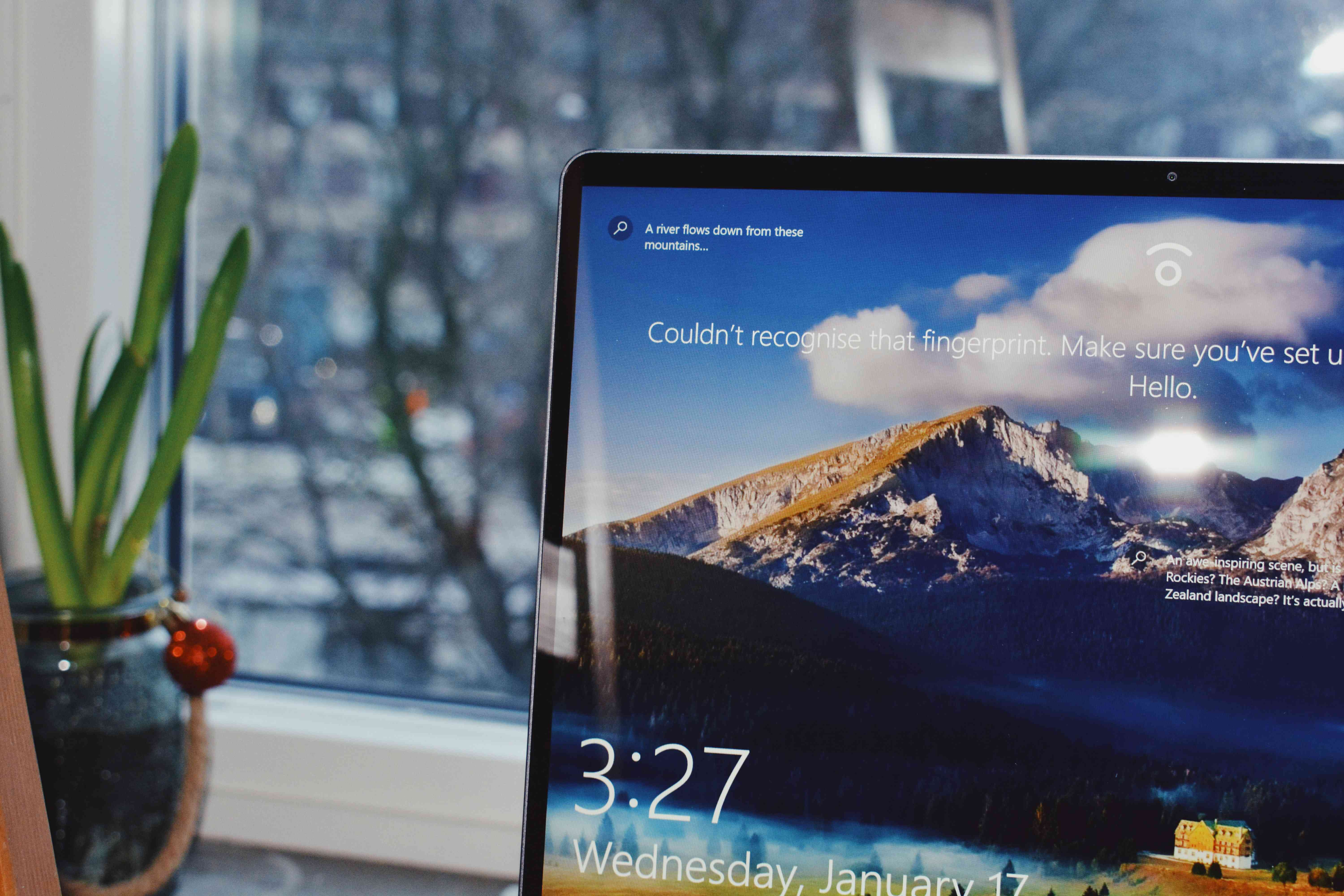 Laptop with Windows 10 on the screen.