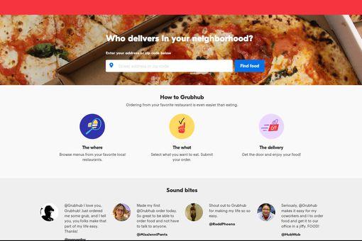 Grubhub Home Page
