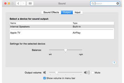 Internal Speaker Volume (Sound Preference Pane)