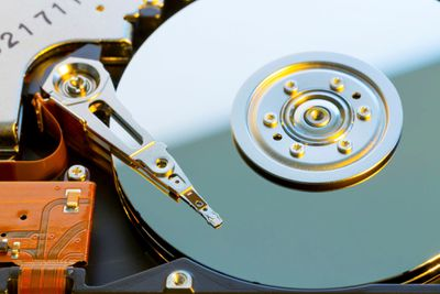 Hard disk drive uncovered
