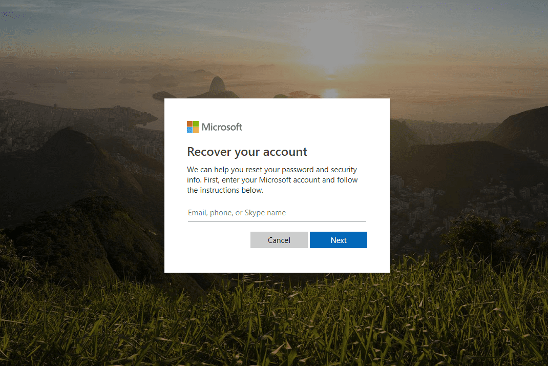 skype with microsoft account not working