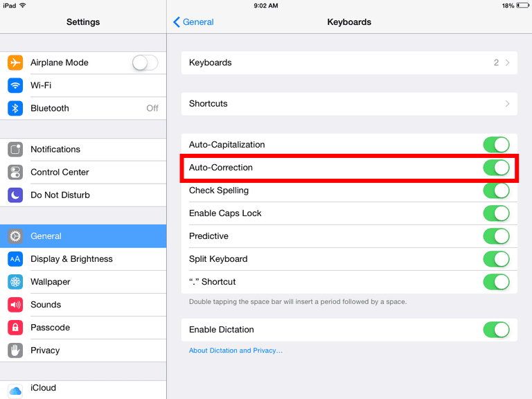 autocorrect settings iphone how to turn on auto correct on the iphone 10199