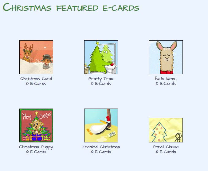 E-Cards electronic Christmas Cards