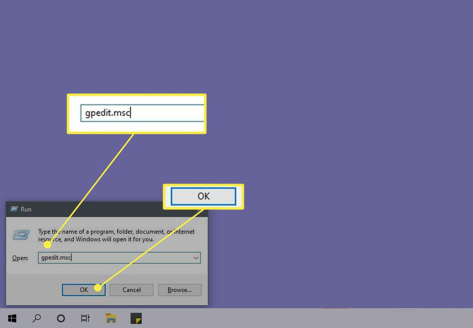 Starting the Group Policy Editory from the Windows Run App