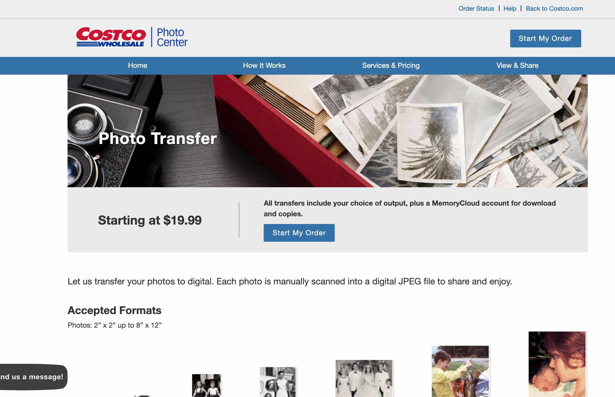 Costco's photo-scanning services