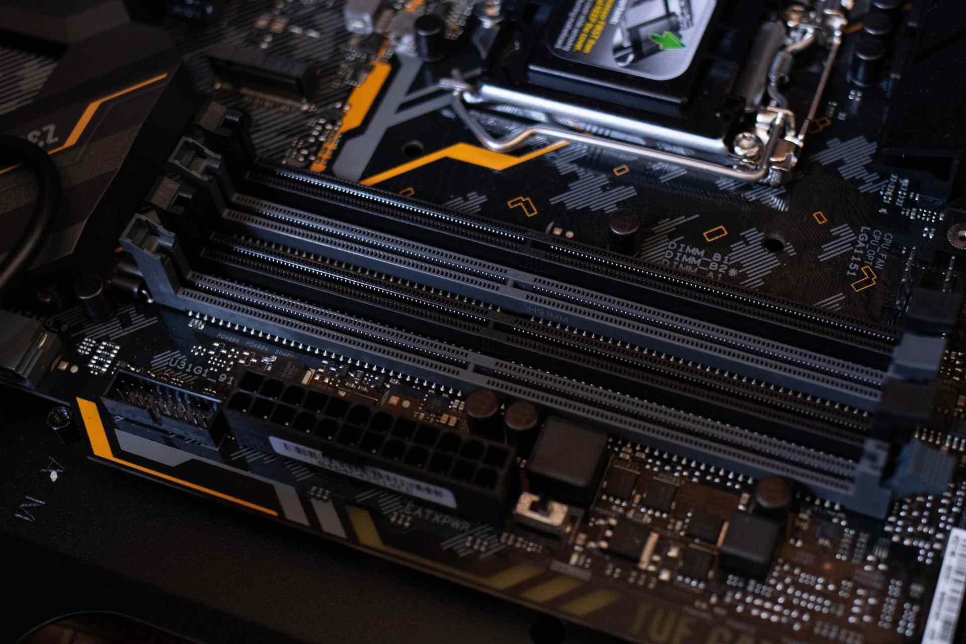 Motherboard RAM Slots empty