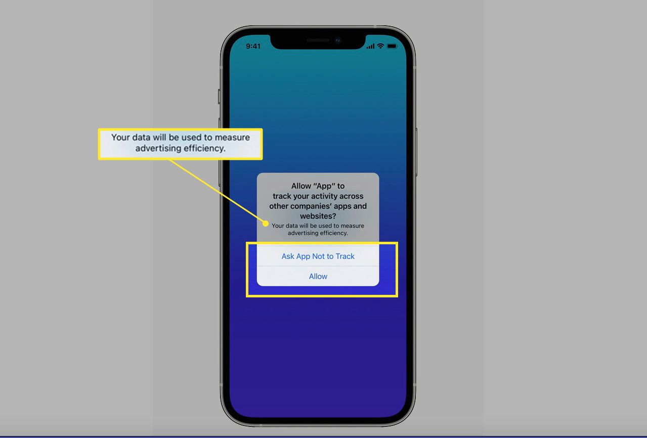 App Tracking permission feature on an iPhone