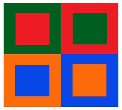 Example of Simultaneous Color Contrast