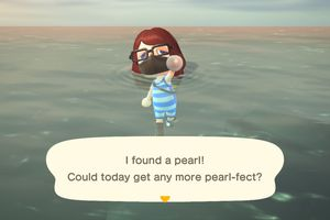 A pearl in Animal Crossing: New Horizons