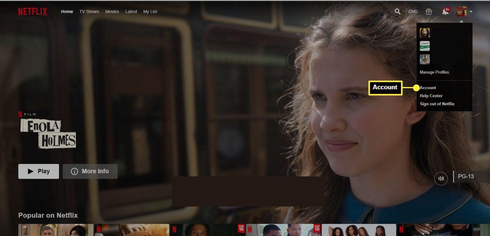 Netflix - select Account