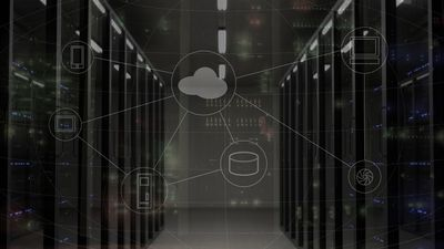 A conceptual image of a computer network.
