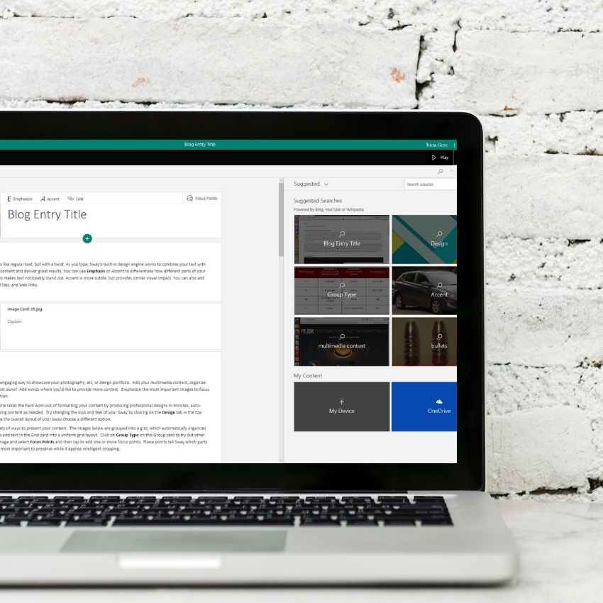 Add Interest to Presentations And Other Documents With Microsoft Sway