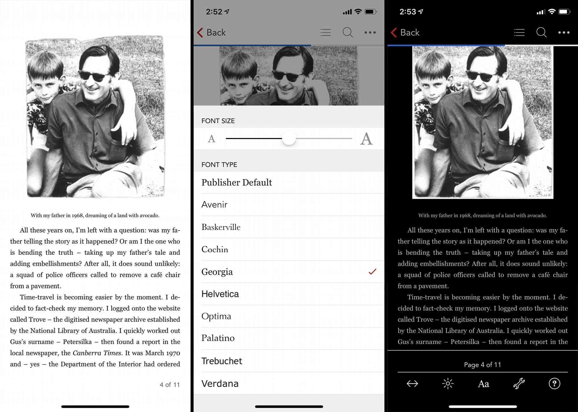 Rakuten Kobo app on iPhone XS.