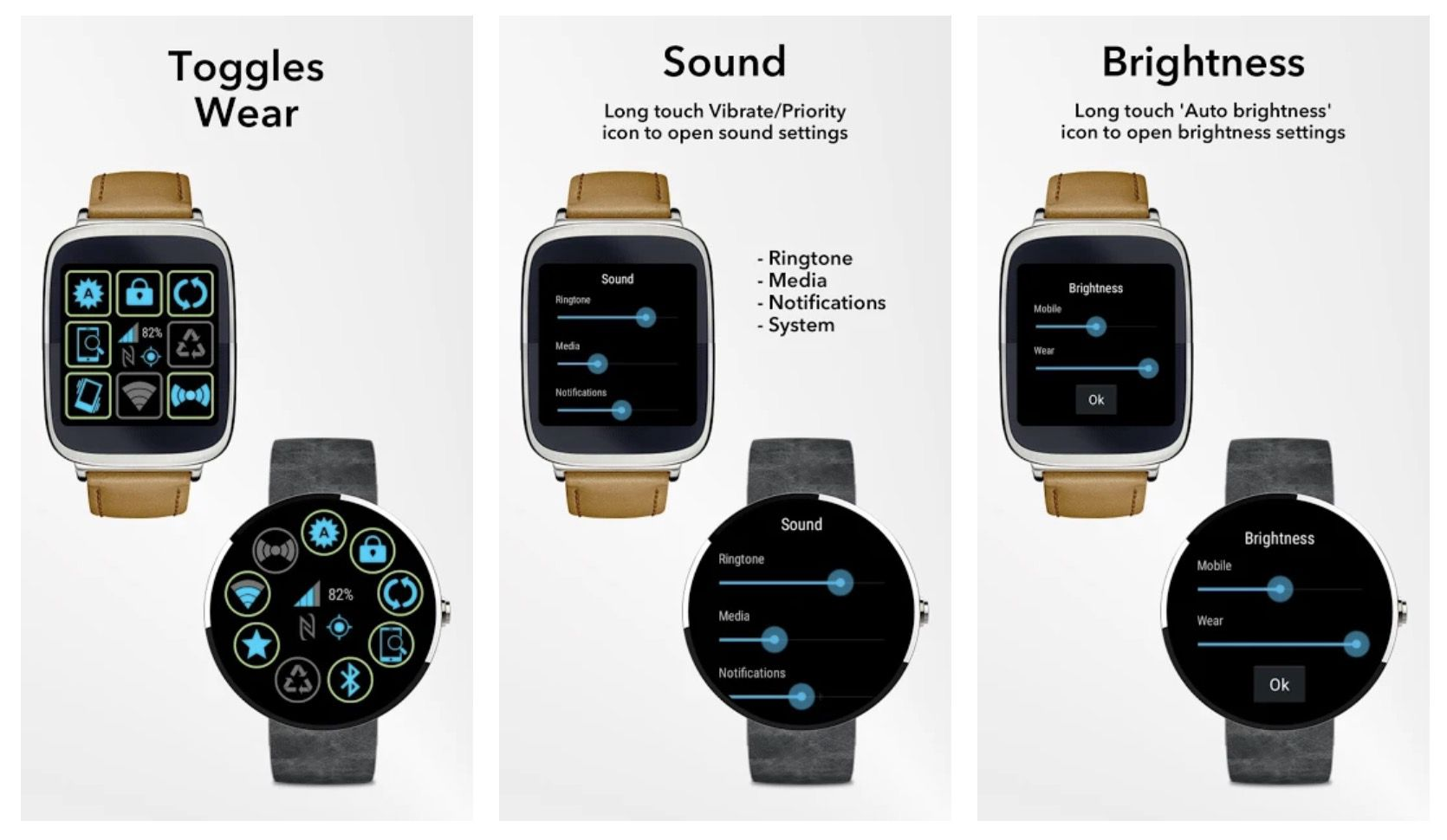 Toggles for Wear app for Wear OS