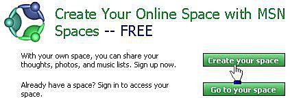 Create an MSN Spaces Web Site