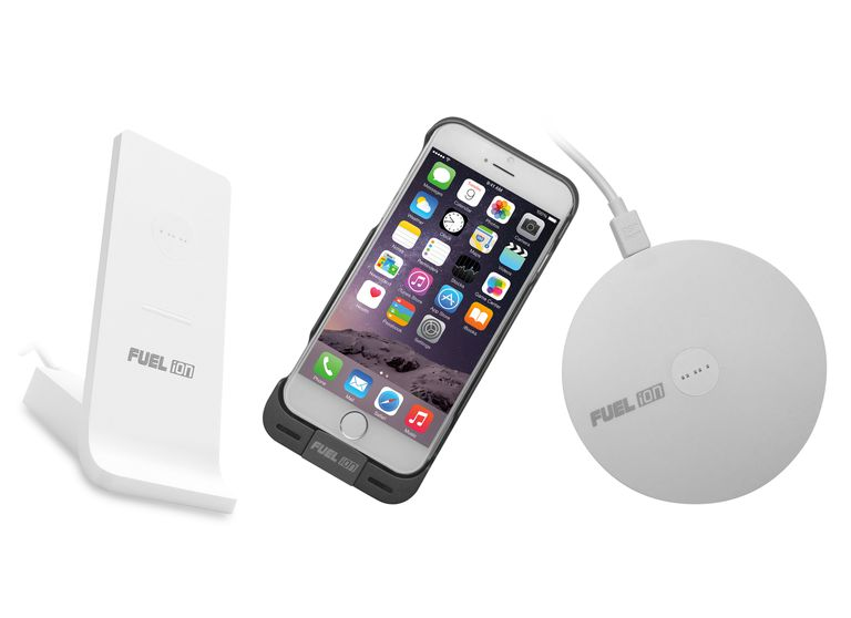 Fuel Ion charging system lets you charge compatible smartphones quickly and wirelessly.