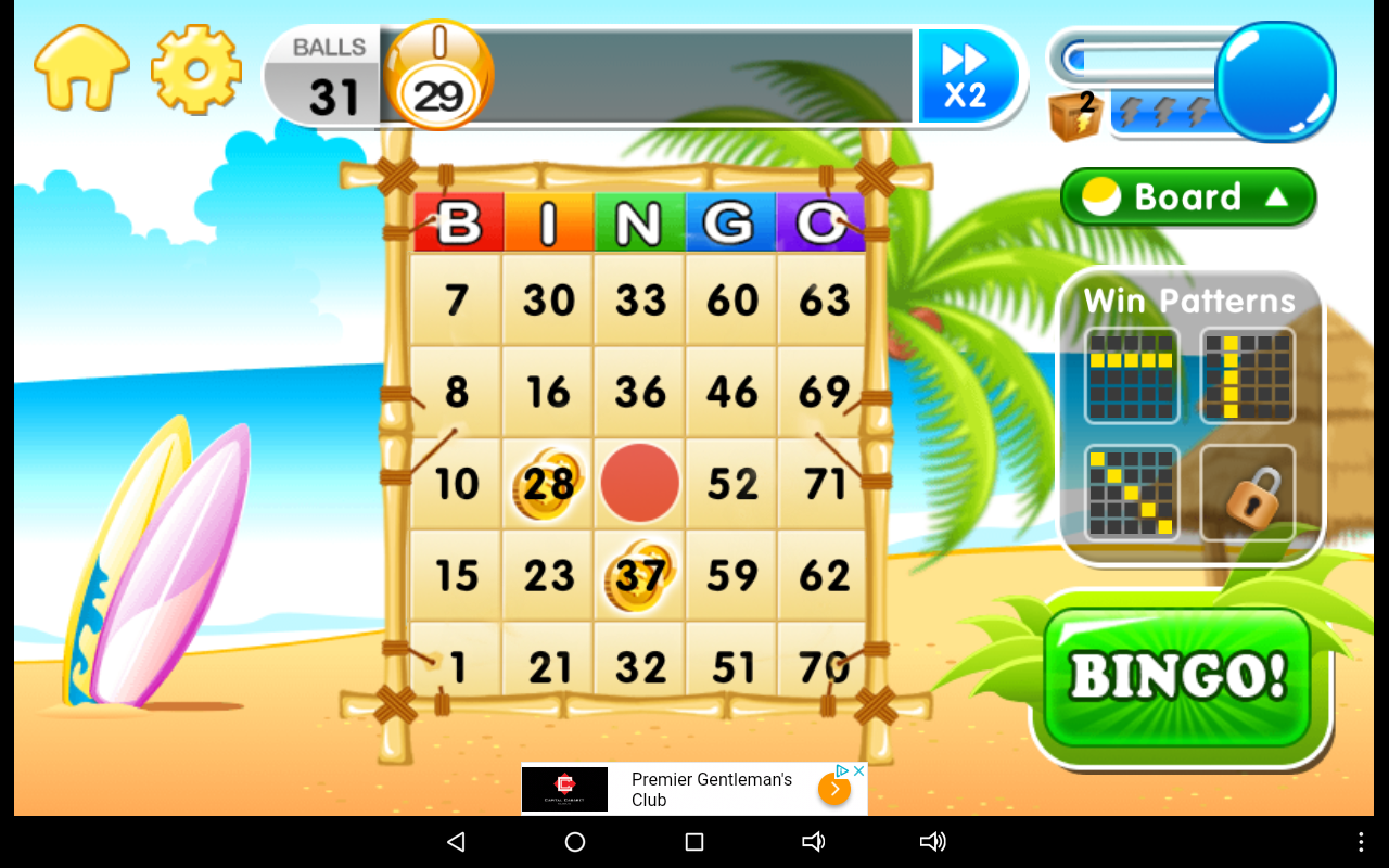 Virtual bingo game for group