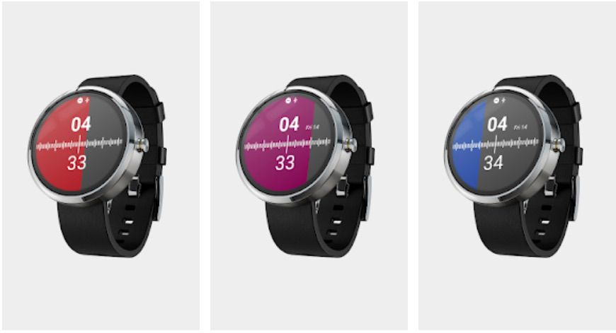 Half Watch Wear OS watch face