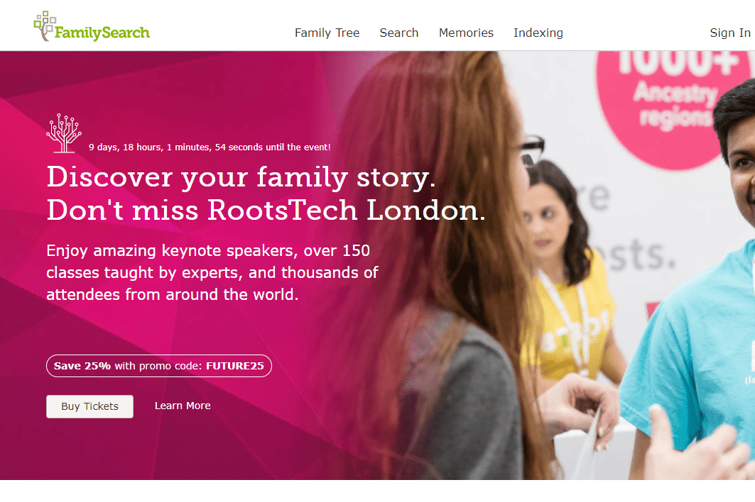 FamilySearch website