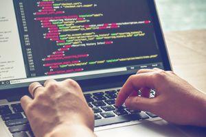 Code written on a computer