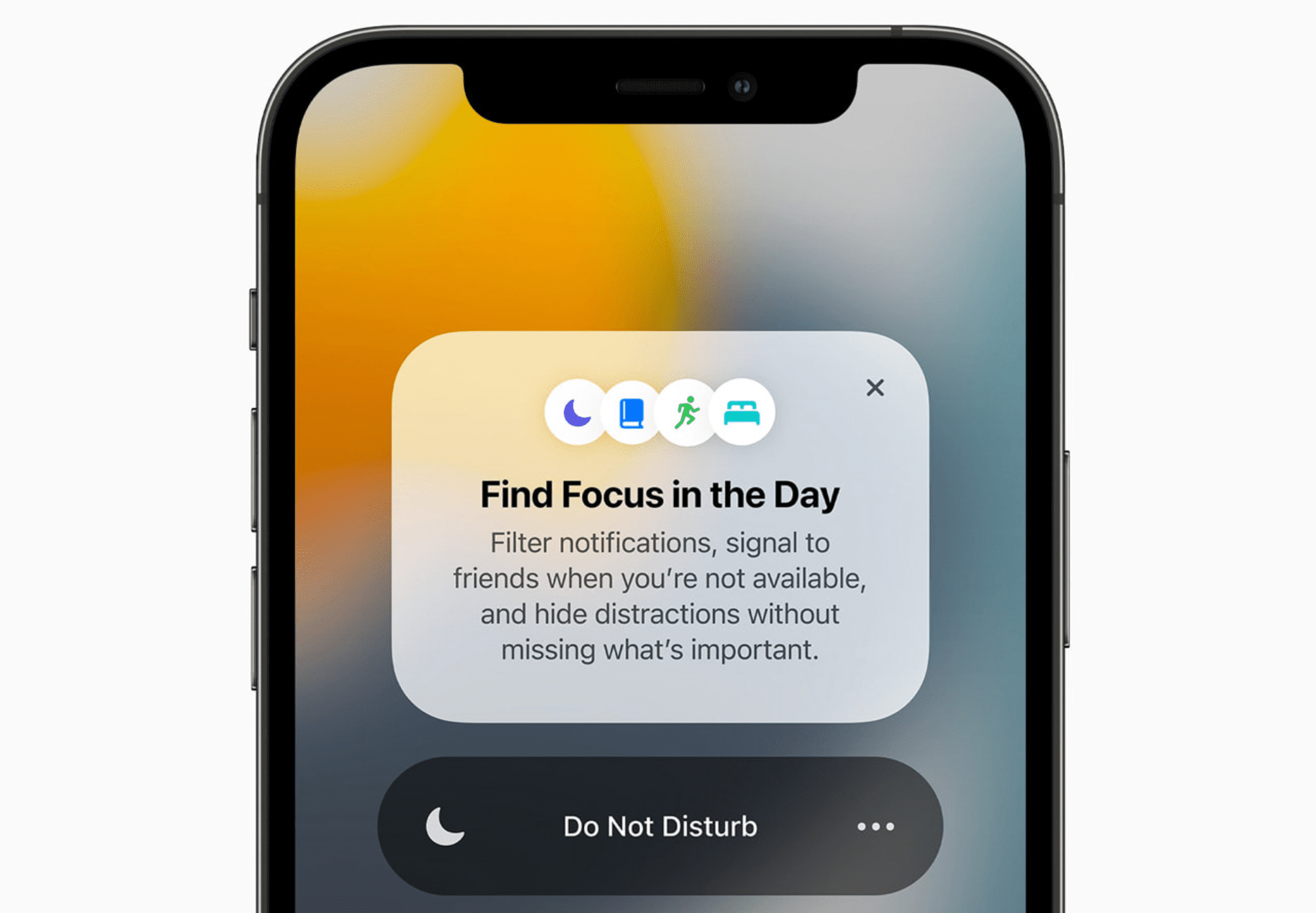 Focus Mode in iOS 15 with DO Not Disturb option
