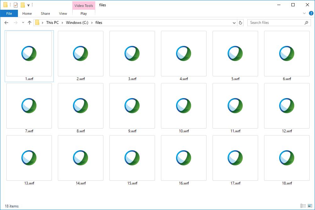 WRF files in Windows 10'