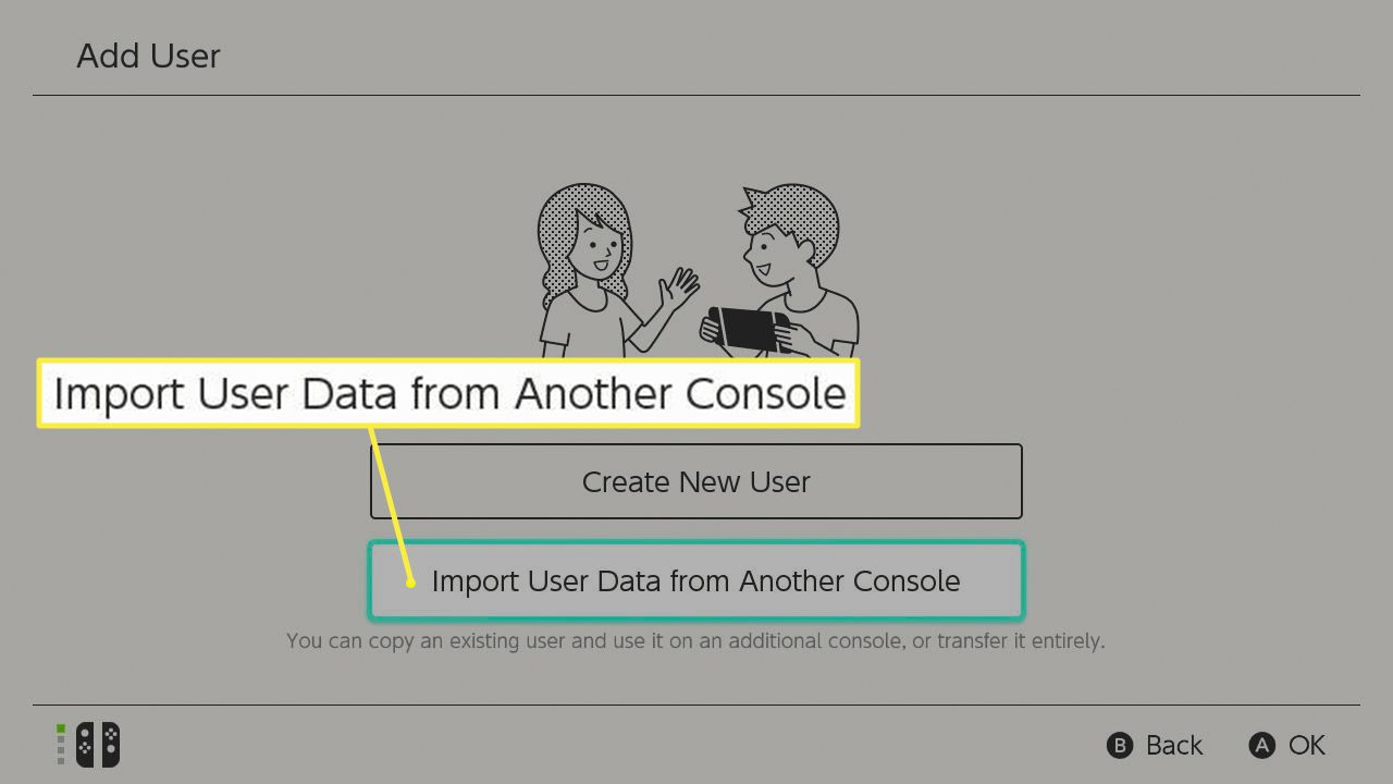 import user data from another console