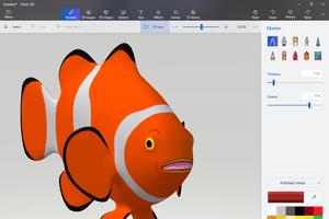 Paint 3D Clown Fish model
