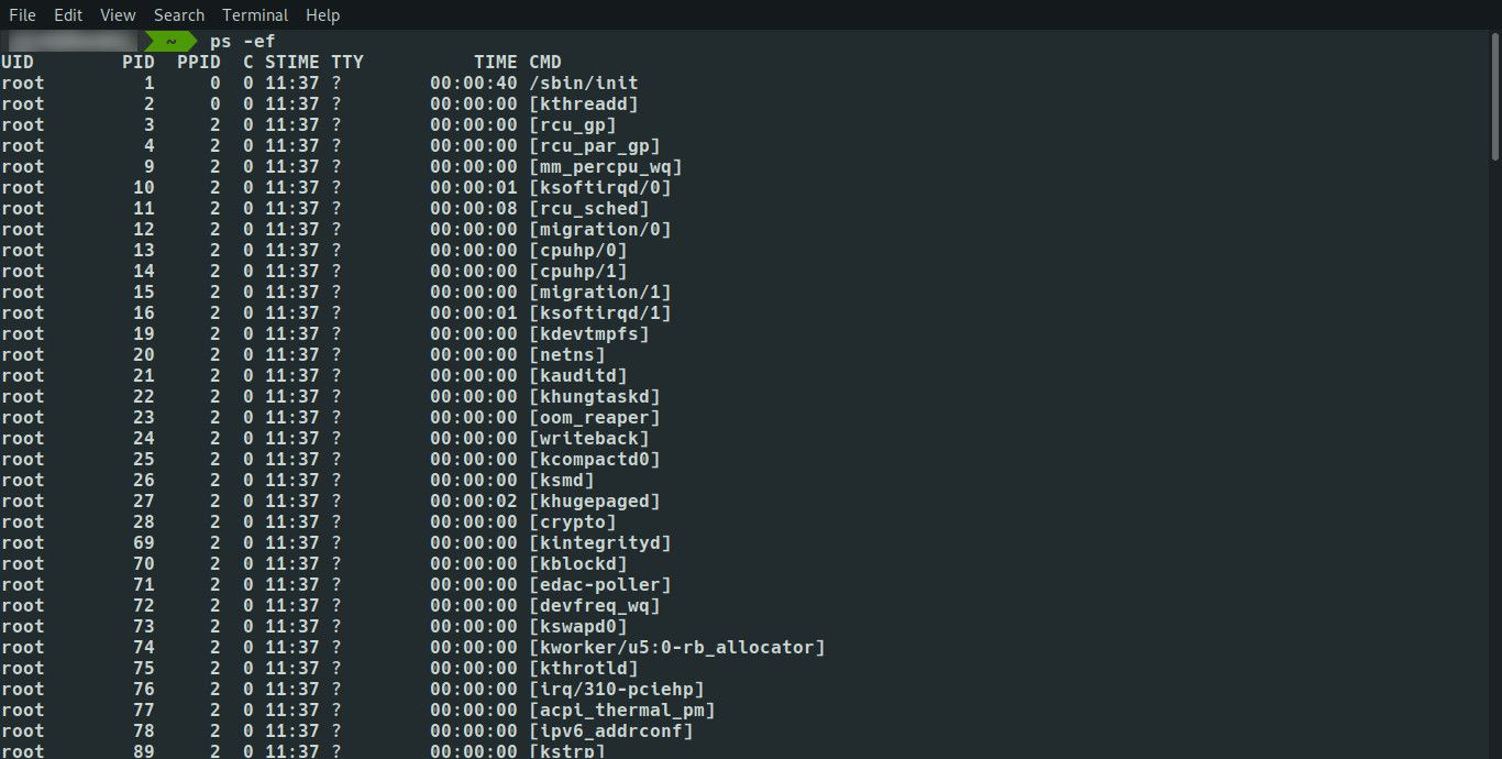 Linux ps command