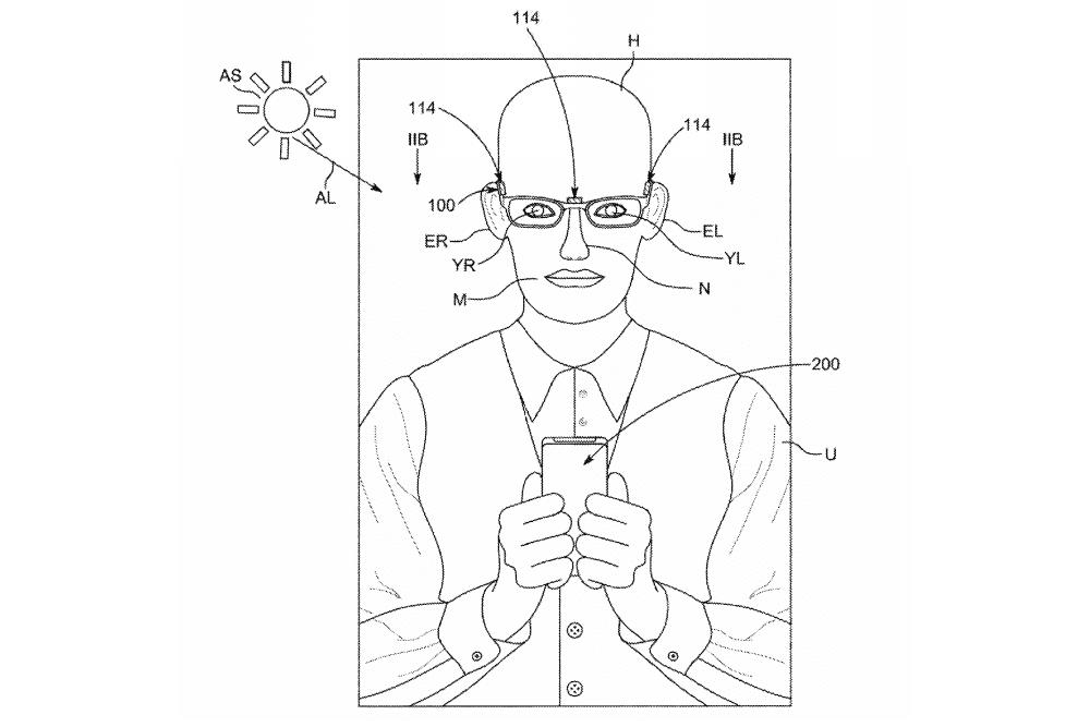 Apple Glasses US patent illustration