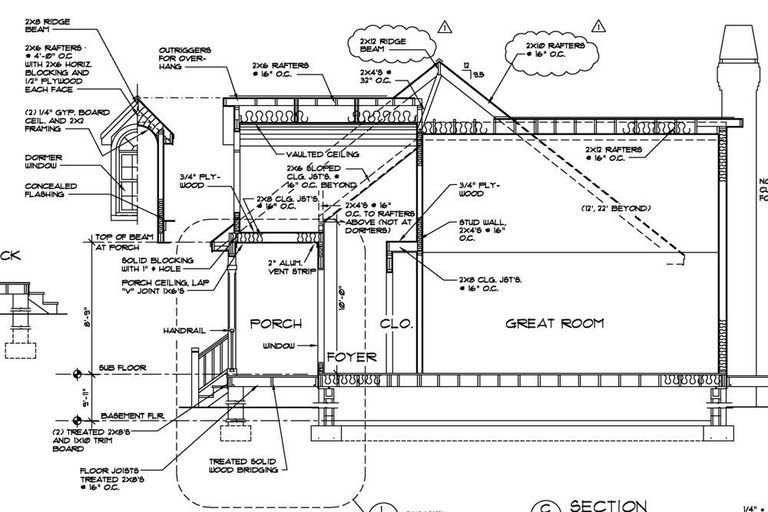 Archtectural drawing / blueprint