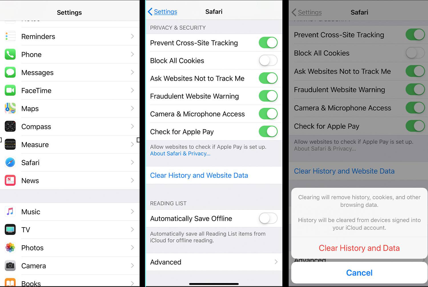 Clear Data Steps in iOS Data006_iOS-Safari-Clear-Data-1171077